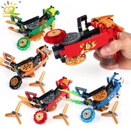 technic blocks Australia - 114pcs Spinners Building Block Compatible Technic ninja figures Spinning Top Bricks Educational Toy for children SH190910