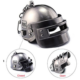 game keys wholesale Australia - Game Playerunknown's Battlegrounds Cosplay Costumes Special Forces Helmet Armor Model Key Chain Keychain PUBG Car Styling