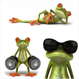 Frog cars online shopping - New arrival D Frogs Funny Car Stickers car styling vinyl decal sticker decoration High temperature water Proof