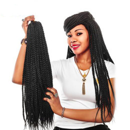 $enCountryForm.capitalKeyWord Australia - 3pcs pack 22 Inches Crotchet Box Braids Hair Extensions Blonde Brown Burgundy Crochet Braids Kanekalon Synthetic Hair