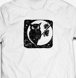 $enCountryForm.capitalKeyWord NZ - MENS HALLOWEEN COOL OWL AT NIGHT 100% COTTON TRICK OR TREAT T-SHIRT TEE TOP white black grey red trousers tshirt