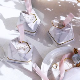 $enCountryForm.capitalKeyWord Australia - New Diamond Marble Style Candy Box Wedding Favors And Gifts Party Supplies Baby Shower Paper Gift Chocolate Boxes For Guests J190706