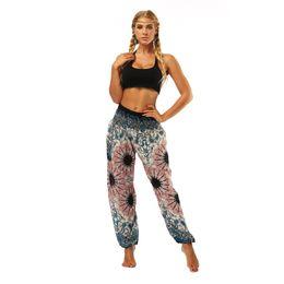 $enCountryForm.capitalKeyWord UK - 2018 Vintage blue Yoga legging lounge pant Bloomers Thai style wide leg loose pants beach wear pantaletters fitness