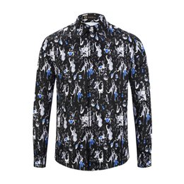 $enCountryForm.capitalKeyWord UK - Mens Designer Spring Autumn Shirt 3D Printed Pattern Long Sleeve Shirt Guitar printed mens casual business cotton free ironing shirt