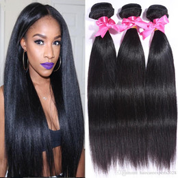 26 7a grade hair UK - Brazilian Straight 3 Bundles Brazilian Virgin Hair Weave Bundles Human Hair Weave 7A Grade Brazilian Straight Hair