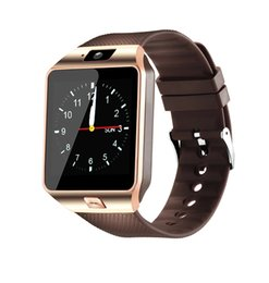 used lg phones Canada - Wholesale Dz09 Bluetooth Smartwatch Phone Dz09 Heart Rate Monitoring HTC LG SIM Card Wristwatch PK GT08 GV08 Smart Andriod Mobile Watches