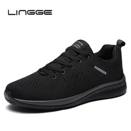 breathable mesh shoes men casual Australia - LINGGE New Mesh Men Casual Shoes Lace-up Men Shoes Lightweight Comfortable Breathable Walking Sneakers Tenis Feminino ZapatosMX190906