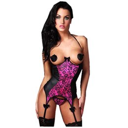 China 2017 New Sexy Women Lingerie Faux Leather Nightclub Sleepwear Lace Splicing Underwire Ladies Slip Sexy Minidress Intimate Slips cheap lingerie sexy sleepwear slips suppliers