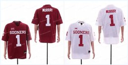 1 Kyler Murray Mens 2018 NCAA Oklahoma Sooners Jersey Red White Limited  Stitched College Football Jerseys 7513cca52