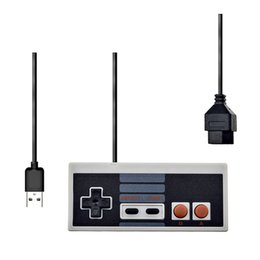 Discount usb joystick controller for pc For NES Wired USB Controller Gamepad PC USB NES Computer Video Games Mando Handle Retro USB For NES Joystick Controle