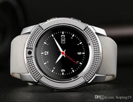 Bluetooth Smart Watch Sim Australia - Good quality V8 Smart Watch Support TF SIM Card Wireless Bluetooth Smartwatch For Smartphones iPhone Android Samsung Mobile Phones