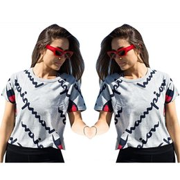 4d1d33864 Hot Summer T Shirt Letter Print Pattern Gray Colors Round Neck Short Sleeve  Shirts Men And Women Universal Home Clothing 29ol E1