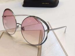 Pink Shades Australia - Linda Farrow LFL660 Round Sunglasses Silver pink Gradient Runway Sun Glasses Brand Designer sunglasses Shades Top Quality New With Box