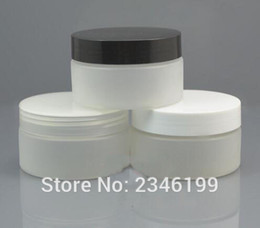 frosted cream jar cap Australia - 100G 100ML White Frost Cream Jar, With Black White Transparent Cap Cosmetics Cream Packing Plastic Jar, 30pcs lot