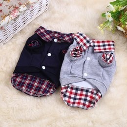 Polo female shirts online shopping - Casual Small Dog Cat Clothes Soft Comfort To Wear Puppy Polo Shirt Cotton Two Colors Pet Clothing Popular fb BB