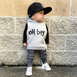 clothing boutique suits Australia - Hooded baby boy boutiques clothing kids causal wear rompers clothes fashion 2pcs boys suits children clothing new kids wear casual clothes