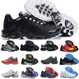 Pointed oPen shoes online shopping - Tn Mens Shoes New Black White Red Air TN Plus Ultra Sports Shoes Cheap TN Requin Fashion Casual Sneakers