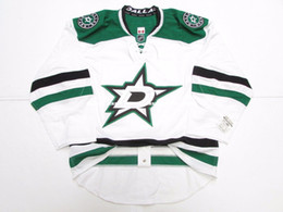17cb0c8ae Cheap custom DALLAS STARS AWAY TEAM ISSUED JERSEY stitch add any number any  name Mens Hockey Jersey XS-5XL