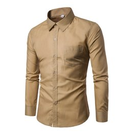 2c0bc6fc59f Wholesale Brand Men Shirt 2018 Fashion Korean Wild Slim Solid Long Sleeve  White Dress Shirt Men Business Social Clothes Plus 3XL  389125