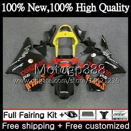 Cbr 954 Bodywork Australia - Body For HONDA CBR900RR CBR 954 RR Orange black CBR900 RR CBR954RR 02 03 41PG17 CBR954 RR CBR 900RR CBR 954RR 2002 2003 Fairing Bodywork