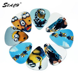 Wholesale 10pcs mm thickness small yellow people pedal guitar picks Musical Instruments accessories guitar strap