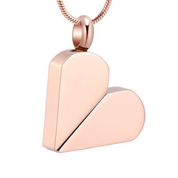 cremation jewelry for ashes pendant Australia - IJD11331 Rose Gold Heart Shaped Deformable Pendant Stainless Steel Carved Cremation Souvenir for Ash Urn Keepsake Memorial Necklace Jewelry