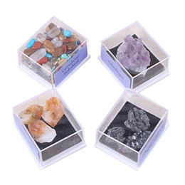 $enCountryForm.capitalKeyWord NZ - Newest 1 Pack Collection Mix Gems Crystals Natural Mineral Ore Specimens Gemstone With Box Home Diy Decor Ornaments C19041101