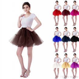 petticoats underskirts Australia - 2020 Cheap In Stock Women Mini Tutu Skirts Layers Tulle Wedding Dresses Petticoat Underskirts Real Pictures Bridesmaid Shirt Wear CPA1089