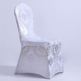 chinese chairs Canada - Fashion sparkly sequin Universal Stretch Spandex Chair Covers for Weddings Party Banquet Decoration Accessories Elegant Wedding Chair Covers