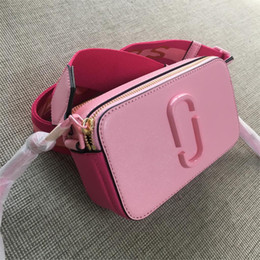 Double hanDbags online shopping - 2019 new camera bag wide shoulder strap letter small square bag leather ladies handbag double zipper small shoulder bag handbags