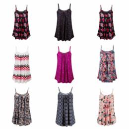 29777d8c5df Fashion Women Print Sleeveless Clothing Lady O-Neck Travel Loose Spaghetti  Strap Shirts Causal Sexy Beach Floral Tops Blouse LJJT409