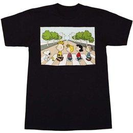 Shirts For Geeks NZ - Peanuts Abbey Road T-Shirt Tees Shirt For Men Geek Short Sleeve Fashion Custom Big Size Couple Tshirt