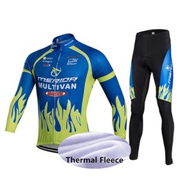 merida cycling jersey sets NZ - 2020 hot MERIDA fashion Winter Thermal Fleece Cycling Long Sleeve Jersey Cycling Racing MTB Maillot Bike Bib Long Pants Set size XS-5XL