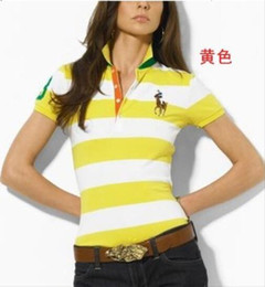 Wholesale orange polo custom resale online – Women Ralph polos Lauren American fashion brand designer polos high quality cotton polo femme summer custom made luxury shirts