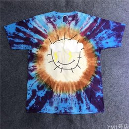 15 Styles Mens Designer T Shirts TRAVIS SCOTT x DSM Tee Graffiti Hand Drawn Tie Dye Fashion Brand High Street Short Sleeve Casual