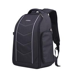 Dslr Slr Camera Australia - Andoer 600D Professional Camera Backpack Bag for 2 DSLR SLR Cameras 6 Lenses Tripod Flash and Accessories