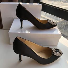 $enCountryForm.capitalKeyWord Australia - The Luxury Designer Wedding Shoes Bride Women Ladies Girl Valentine Gift New Fashion Sexy Sequined Silk Dress Shoes High Heels Pump yc190312