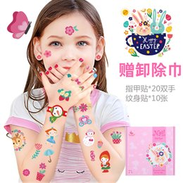 $enCountryForm.capitalKeyWord Australia - Children's Tattoo and Nail Sticker Painting Baby Sticker Paper Waterproof Christmas Birthday Gift Set for Boys and Girls