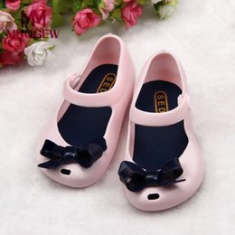 $enCountryForm.capitalKeyWord Australia - MUQGEW Cute Girls Baby Kids Detailed Jelly Bowknot fish mouth sandals boots Shoes sandals for girls
