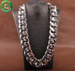 Chunky Curb Chain online shopping - Curb Cuban Link Chain Hip Hop Jewelry Mens Thick Long Designer Necklace Fashion Big Chunky Vintage Choker Iced Out Rapper DJ Accessories