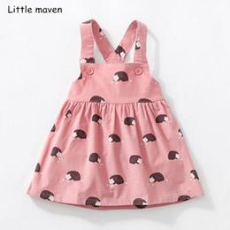 $enCountryForm.capitalKeyWord NZ - Little Maven Kids Brand Clothes 2018 Autumn Baby Girls Clothes Cotton Flower Print Sundress Girl Animal Sleeveless Dresses MX190725