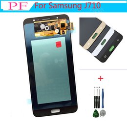 SamSung j7 replacement online shopping - AMOLED For Samsung Galaxy J7 J710 J710F J710FN J710M J710Y LCD Display LCDs Touch Screen Digitizer Assembly Replacement Free tool