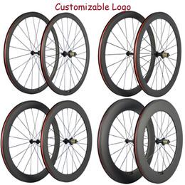venda por atacado As fábricas de 38/50 / 60/88 milímetros basalto freio superfície Rodas carbono bicicleta de estrada rodado Com R13 Hub 23 milímetros Rodas