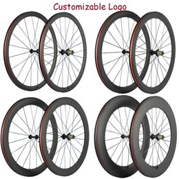Wholesale Factory Sales 38 50 60 88mm Basalt Brake Surface Wheels Carbon Road Bike Wheelset With R13 Hub 23mm Wheels