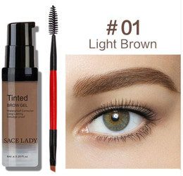 $enCountryForm.capitalKeyWord Australia - SACE LADY Eyebrow Gel Tint 6 Colors Makeup Pomade Brush Kit Brown Henna Eye Brow Cream Make Up Paint Set Enhancer Wax Cosmetic