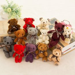 baby chicken toys Australia - Stuffed bear plush toys girl baby shower party favor cartoon animal key bag pendants 12cm Christmas presents