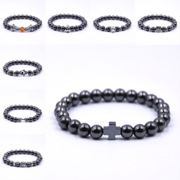 Dumbbells for women online shopping - Free DHL Non Magnetic Unisex Bracelet Hematite Stone Beads Dumbbell Bracelet Fashion Bracelets Jewelry Accessory Fit For Men Women G120S Y