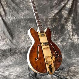 Guitars Gold Hardware Australia - Manufacturers custom classic hot jazz double hole semi-hollow electric guitar, gold hardware accessories, custom color micro standard
