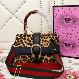 $enCountryForm.capitalKeyWord NZ - Natural Bamboo Handle Handle Shoulder Bag 448075 Leopard Print Real Leather Iconic Bags Totes Cross Body Business Messenger Bags