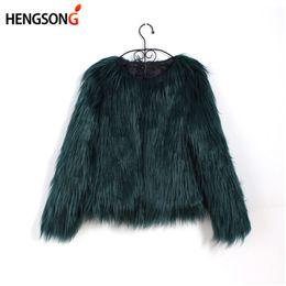 $enCountryForm.capitalKeyWord Australia - Floating Hair Jacket Fur Coat Women Lady Fur Overcoat Imitation Faux Fox Jackets Hairy Party Warm Coat Plus Size XXXL
